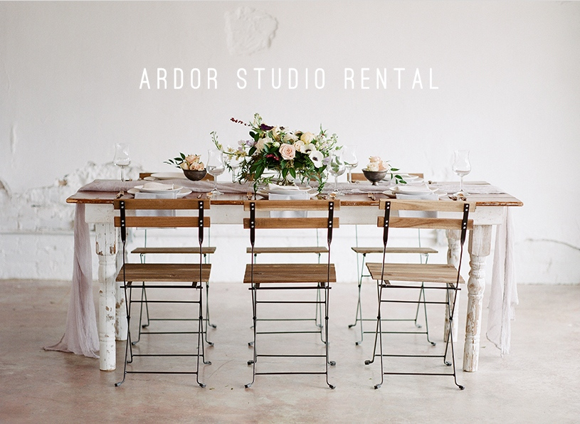 Tablescape Ardor Rental Boutique Studio. Photographed by Ashley Upchurch Photography